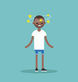 dizziness conceptual young black man with stars vector image