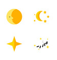 flat icon bedtime set of lunar bedtime star and vector image