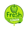 fresh juice emblem 5 vector image
