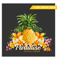 Geometric Pineapple Background vector image