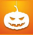 halloween pumpkin applique background vector image
