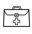 medic suitcase icon vector image