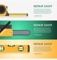 repair tool shop banner set vector image