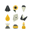 set of sunflower icons vector image