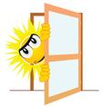 sun open the door art vector image