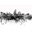 San Jose skyline in black watercolor on white vector image
