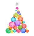 Christmas backgound watercolor vibrant colors vector image