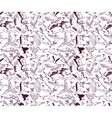 Birds seamless pattern wallpaper ink monochrome vector image vector image