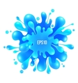 Blue paint splash isolated on white vector image vector image