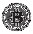 bitcoin black and white vector image