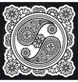 Black and white yin-yang sign vector image