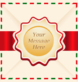 Christmas or greeting card with ribbon vector image