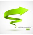 Green spiral arrow 3D vector image