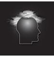 icon of human head Dark design vector image