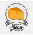 Menu restaurant ingredient vector image