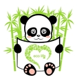 panda in the bamboo forest vector image