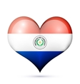 Paraguay Heart flag icon vector image