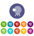 target set icons vector image