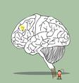 brain labrylinth vector image