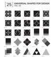 geometric shapes vector image