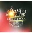 Christmas snow card vector image vector image