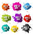 Colorful Discount Sale Blots - Splashes Set vector image