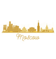 Moscow City skyline golden silhouette vector image