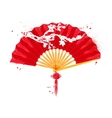 Chinese symbols fan vector image