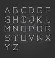 alphabet design set-Minimalist style vector image