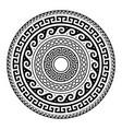 ancient greek round key pattern - meander art vector image