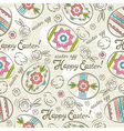 Easter Patterns easter eggs chicks vector image