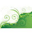 green background with spirals and vector image