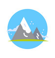 mountains icon active tourism travel and adventure vector image