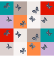 Seamless background with different butterflies vector image