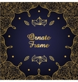 Vintage ornate card Golden Eastern floral decor vector image