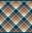 check classic dark plaid fabric texture seamless vector image