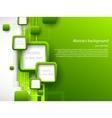 Abstract green brochure vector image