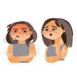 woman having flu fever sore throat vector image vector image
