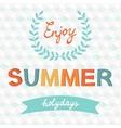 Enjoy summer typography vector image