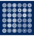 36 white circle lace pattern big collection vector image