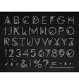 Font Flat chalk vector image vector image
