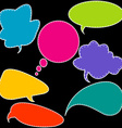 Colorful stitched speech bubbles vector image vector image