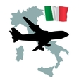 fly me to the Italy vector image vector image