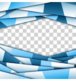 abstract blue paper frame vector image