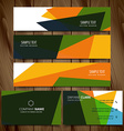 abstract colorful business style banners and cards vector image