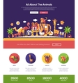 All about animals website header banner with vector image