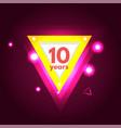 anniversary ten logo vector image