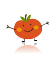 apple funny character for your design vector image