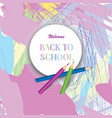back to school background supplies over chaotic vector image