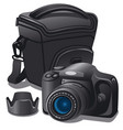 camera and case vector image